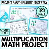 Winter Multiplication Arrays Real World Math Project | Digital & Printable
