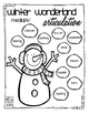 Winter Wonderland Articulation Coloring Sheets