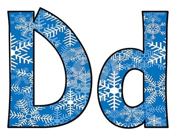 Winter Wonderland BB letters