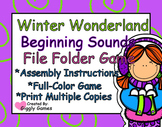 Winter Wonderland Beginning Sounds File Folder Game