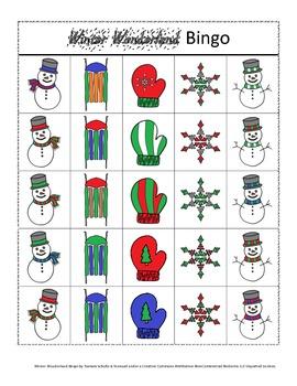Winter Wonderland Bingo! A Speech and Language Re-enforcement Activity
