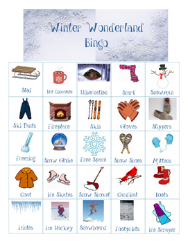 Winter Wonderland Bingo and Matching Games
