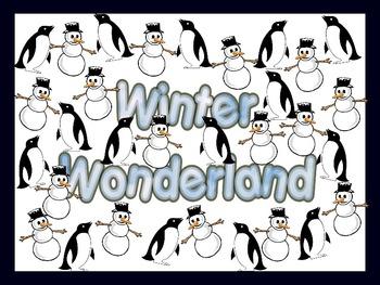 Winter Wonderland Bulletin Board Sign