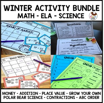 Winter Wonderland Bundle- ELA, Math, & Science