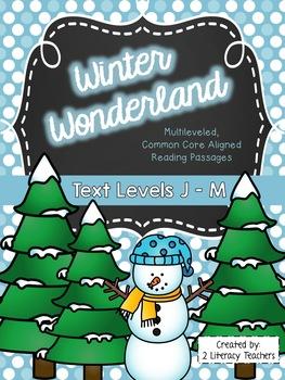 Winter Wonderland: CCSS Aligned Leveled Passages & Activities BUNDLE Levels J-M