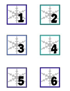 Winter Wonderland Calendar Numbers