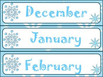 Winter Wonderland Calendar Set