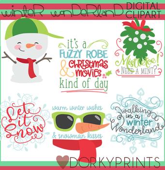 Winter Wonderland Christmas Clipart