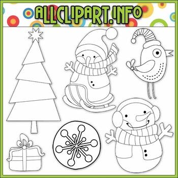 BUNDLED SET - Winter Wonderland Clip Art & Digital Stamp Bundle