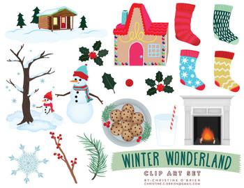 Winter Wonderland Christmas Clip Art Set
