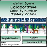 Winter Wonderland Color By Number COLLABORATIVE Poster (English)