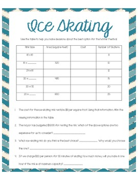 Winter Wonderland Common Core Multiplication and Division Tasks