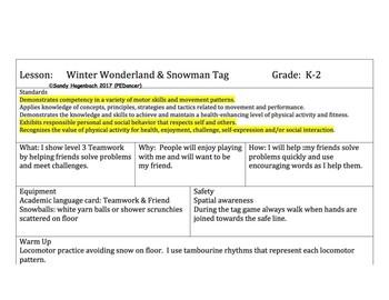 Winter Wonderland Cooperative Lesson