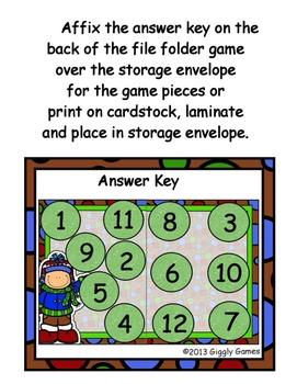 Winter Wonderland Counting File Folder Game