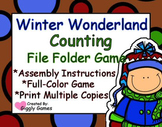 Winter Wonderland Counting File Folder Game