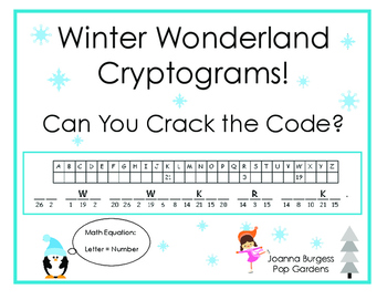 picture regarding Free Printable Cryptograms known as Wintertime Cryptogram Worksheets Instruction Supplies TpT
