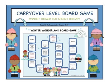 Winter Wonderland: Customizable Board Game - SLP - Articulation Therapy + More!