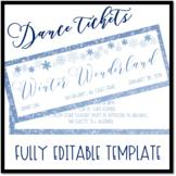 Winter Wonderland Dance Ticket Template