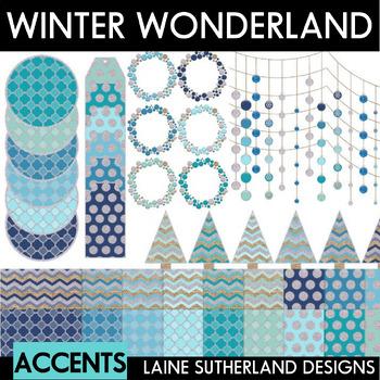 Winter Wonderland Digital Paper and Accents Set