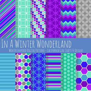 Winter Wonderland Digital Papers and Backgrounds