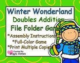 Winter Wonderland Doubles Addition File Folder Game