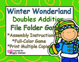 Winter Wonderland Doubles Addition File Folder Game