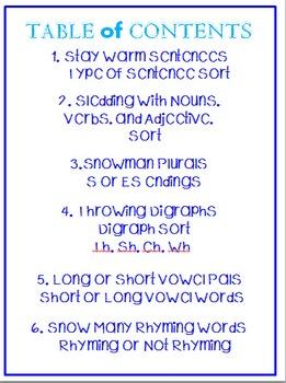 Winter Wonderland ELA Centers