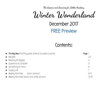 Winter Wonderland- FREE Toddler & Preschooler Activities