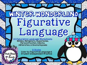 Winter Wonderland Figurative Language (Winter Literary Dev