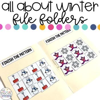 Winter Wonderland File Folder Activities for Special Education