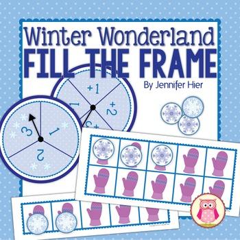 Winter Math Activity:  Five and Ten Frame Math Game