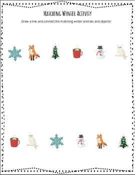 Winter Wonderland Fine Motor Packet - No Prep!