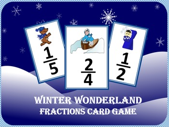 Winter Wonderland Fractions Card Game