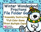 Winter Wonderland Fractions File Folder Game