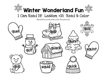 Winter Wonderland Fun - I Can Read It! Read & Color (Lesson 18)