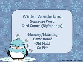 Winter Wonderland Game Pack Diphthongs