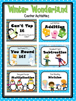 Winter Wonderland: January Math Centers