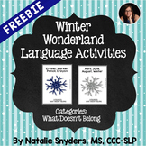 Winter Wonderland Language Activities for Speech Language Therapy - Freebie