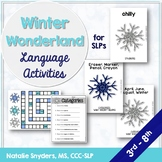 Winter Wonderland Language Activities for Speech Language Therapy