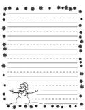 Winter Wonderland Lined Paper - Primary