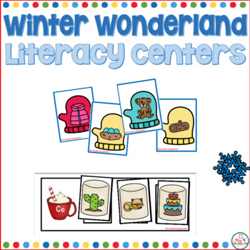 Winter Wonderland Literacy Centers for Kindergarten