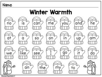 Winter Wonderland! Literacy Centers for Kindergarten