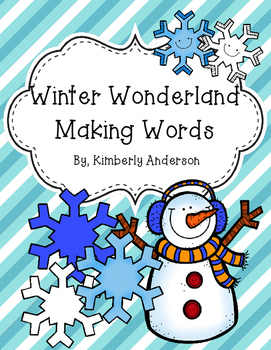 Winter Wonderland Making Words Activity