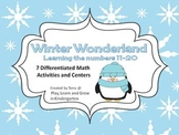 Winter Wonderland Math Activities and Centers for the teen numbers