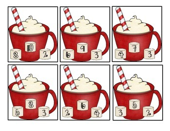 Hot Chocolate Winter Wonderland Common Core Math Centers