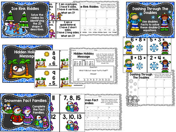 Winter Wonderland Math Centers - Dec 2nd Grade