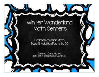 Winter Wonderland Math Centers-Pearson enVision First Grad