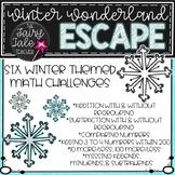 Winter Wonderland Math Escape, Winter Math Center, Math Rotations