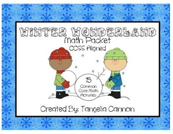 Winter Wonderland Math Packet