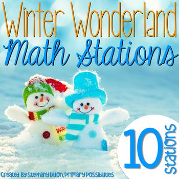 Winter Wonderland Math Stations {Common Core Aligned}
